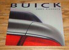 Original 2003 Buick Century Deluxe Sales Brochure 03