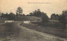1940s Drive Echo Lake Park Union County New Jersey Mayerose postcard 6007