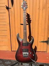 Schecter Guitar Research C-1 Platinum FR Crimson Red Burst Satin with Tools