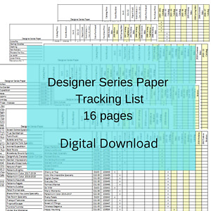Download Stampin Up Tool Cardstock Master Paper Inventory Tracking Reference