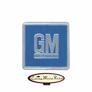 CHEVY GM CAMARO CHEVELLE NOVA METAL BLUE DOOR JAMB EMBLEM DECAL