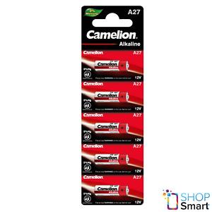 5 CAMELION A27 ALKALINE BATTERIES LR27A L828 MN27 12V 5BL 2024 NEW