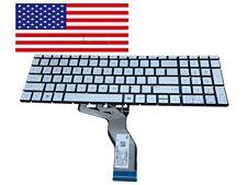 New listing New Hp Pavilion 15-cc050wm 15-cc060wm 15-cc051wm Laptop Backlit Keyboard Silver