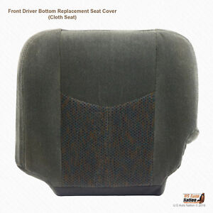 2003-2007 Chevy Silverado LS LT Z71 -Driver Side Bottom Cloth Seat Cover Dk Gray