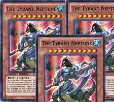 The Tyrant Neptune X 3 Mint CT08-EN018 Limited** Edition Mint  Super Rare yugioh