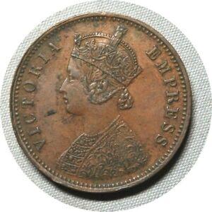 elf India British 1/4 Anna 1883  Victoria