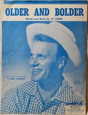 Eddy Arnold Older and Bolder Country Western Vintage Sheet Music Extras ShipFree