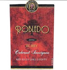 Robledo 2006 Cabernet Sauvignon Wine Bottle Labels