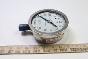 """Ashcroft Pressure Gauge, 0 to 100 psi  5"""" Face"""