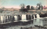 Hand Colored Postcard Elkhorn Falls in Richmond, Indiana~125335
