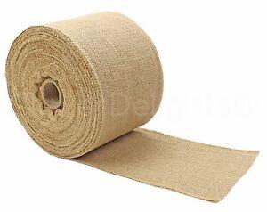 "6"" Premium Burlap Roll - 50 Yards - Finished Edges - Natural Jute Burlap Fabric"