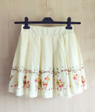 ANK ROUGE Yellow Parfait Ice Cream Skirt Pastel Pink Polka Dot Himekaji XS S