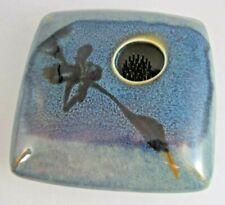 Georgetown Pottery Ikebana Metal Pin Frog Flower Flat  4 3/4