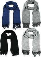 Luxurious Winter Warm Woven Soft Feel Touch Diamonds Check Long Scarf Unisex