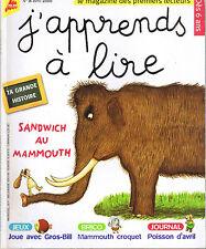 J'apprends à LIRE n° 8 * Sandwich au Mammouth Lecteurs débutants CP M PIQUEMAL