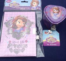 Disney Sofia the First Girls Large Diary Lock & Keys & Tin Keepsake Box Set