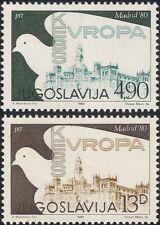 Yugoslavia 1980 Dove/Security Conference/Hall/Buildings/Birds 2v set (n21705)