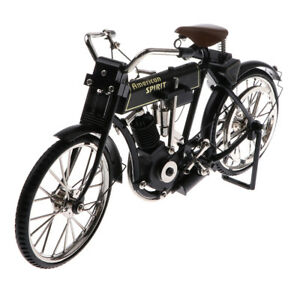 1:10 Scale Alloy Diecast Bike Classic Black Bicycle Model MY-0156