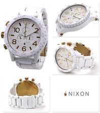 Neu! Nixon 51-30 Chrono A083-1035 Weiß Gold UVP*530€ Chronograph Uhr XXL
