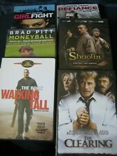 Dvd Movies Lot 6~Walking Tall +Moneyball+Girlfight+The Clearing+Shaolin+Defiance