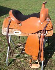 "15.5""  McKinney western  trail / pleasure saddle  tan leather"