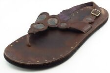 Indigo by Clarks Size 8 M Brown Slingback Leather Women Sandal Shoes