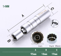 "14mm Spark Plug Wobble Removal Socket Tool Fit For BMW 3 E90-N43B 3/8""Dr Slim UK"