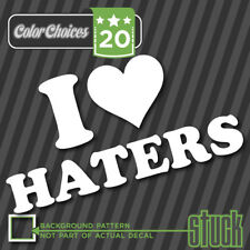 I HEART HATERS - decal sticker funny jdm hate  3 love import illest
