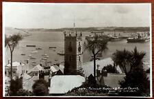 Falmouth Harbour & Parish Church, Cornwall. Post Card