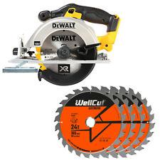 DeWalt DCS391N 18V XR li-ion Circular Saw 165mm + 1.5mm 4 Extra 24T Wood Blades
