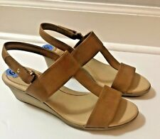 bdf1f0a27f91 Dr .Scholls Open Toe Wedge Heel Sandals Womens Size 6.5 M NEW True Comfort