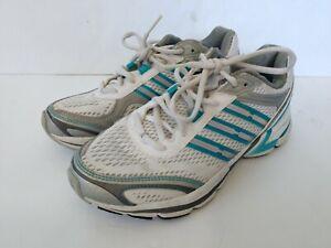 Adidas Women's Shoes Track Running 3 Striped Sneakers White Blue Adiprene 7M