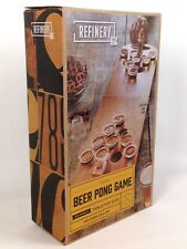 Refinery Tabletop Size Wooden Beer Pong Game  Adult Party Drinking Game College