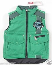 BNWT Designer Boys Girls Diesel Gilet Sleeveless Green Body Warmer Jacket Age 3