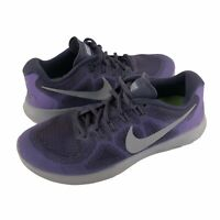 Nike Womens Sz 8 Free Run Natural Purple Gray Running Athletic Lace Up Sneakers
