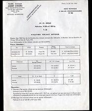 """Concessionnaire AUTOMOBILE CITROEN ID DS T23 """"NOTE TECHNIQUE N°765"""" en 1962"""