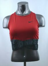 Nike Pro Intertwist Crop Top Red Women's Size L-XL New with Tags AH8779 687