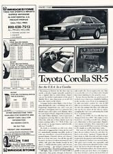 1981 Toyota Corolla SR-5 Coupe  Original Car Review Print Article J630