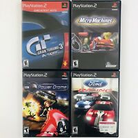 PS2 Racing Lot - Micro Machines / Power Drome / Gran Turismo 3 / Ford Racing 2