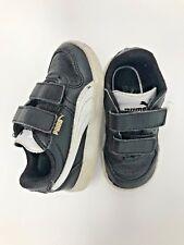 Puma Black 2-strap Low Top Leather Children's Shoes Size 6
