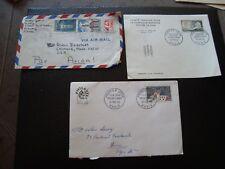France - 3 envelopes 1963/1963/1968 (B16)