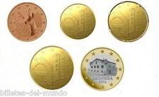 B-D-M Andorra Set 5 10 20 50 Centimos 1 Euro New 2014 (2015) SC UNC