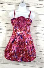 BCBG Max Azria Women's A-Line Dress Full Skirt Begonia Floral Size 2 NWT
