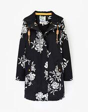Cotton Floral Coats & Jackets Popper for Women