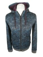 Nwt Mens Lobsta Camo Full Zip Jacket Track Top Blue 2 Small 38 To 40 Chest