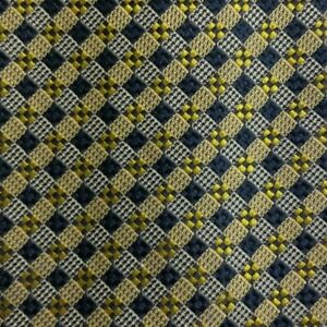 Yellow Blue Check ANDREW'S Silk Tie