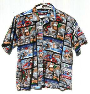 Men's Point Zero Short Sleeve Button-Up Shirt 100% Polyester Size XL
