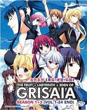 DVD Anime The Fruit + Labyrinth + Eden Of GRISAIA Season 1+2 (1-24) English Sub