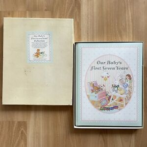 Our baby's First Seven Years Vintage Baby Book Chicago Lying In Hospital 1989
