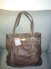 Beautiful Clarks Brown Leather Handbag Shoulder Shopper Medium/Large BNWT!!